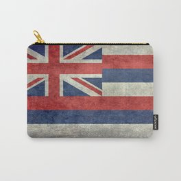 Hawaiian Flag in Vintage Retro Style Carry-All Pouch