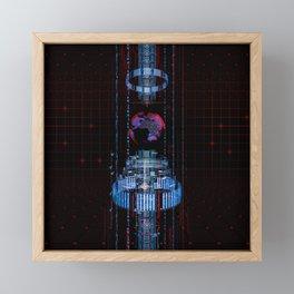 Virtual Data Earth Framed Mini Art Print