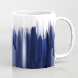 Modern blue cobalt black oil paint brushstrokes abstract Coffee Mug
