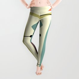 Retro Atomic Hip Abstract Leggings