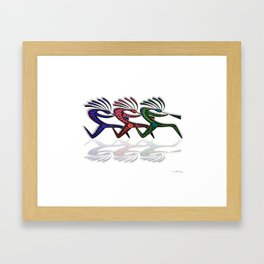 RUNNING  KOKOPELLI II Framed Art Print