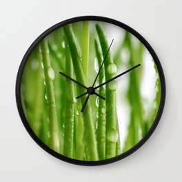 Green gras 03 Wall Clock