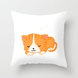 Perfect Gift for Cat Lovers A Persian Cat Tee T-shirt Design Kitty Kitten Meow Paws Animals Fur Cute Throw Pillow