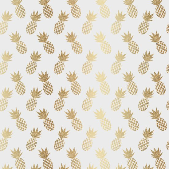 Gold Pineapple Pattern Comforters By Tanyalegere