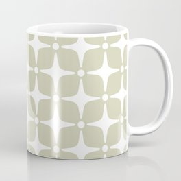 Mid Century Modern Star Pattern 731 Sage Green Coffee Mug
