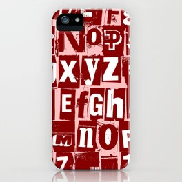 Ransom Letters iPhone Case