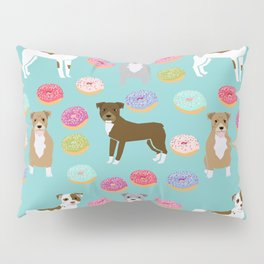 Pitbull dog breed donuts doughnut dog art pibble dog lover rescue pupper Pillow Sham