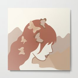 She Gives Me butterflies Metal Print