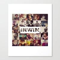 ashton irwin Canvas Prints featuring Irwin Ashton // Collage by Fan_Girl_Designs