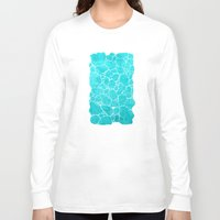 turquoise Long Sleeve T-shirts featuring turquoise by Antracit