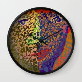 Animal Print Power Wall Clock