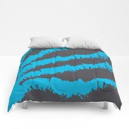 Blue Grey Pattern Comforters