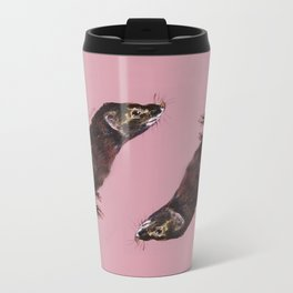 Save the european Mink !!! (FIEB) Realistic (c) 2017 Metal Travel Mug