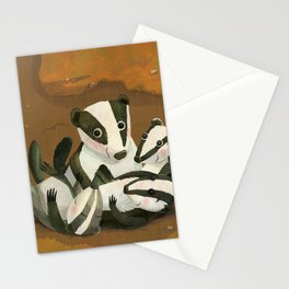 Baby Badgers Stationery Cards