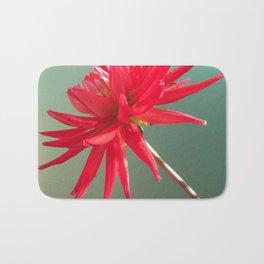 Red Imperfect Flower Bath Mat