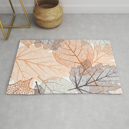 Leaves Print, Nature Art, Abstract Rug