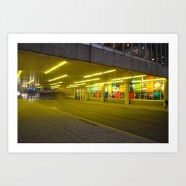Bright Yellow Underpass Art Print