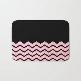 Black and pink chevron pattern Bath Mat