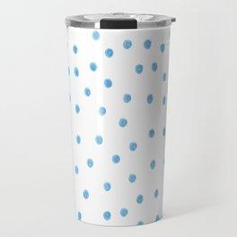 Pastel Blue Polka Dots Travel Mug