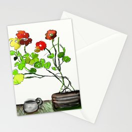 Nasturtiums and Coffee Stationery Cards