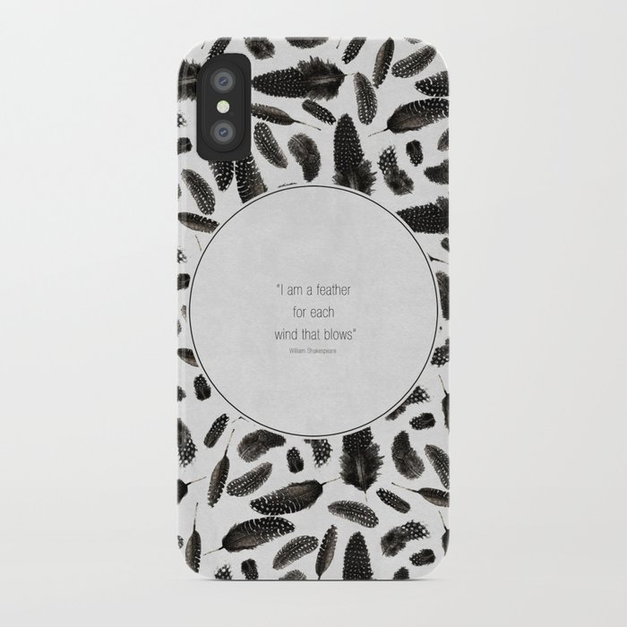 A feather for each wind that blows iPhone Case