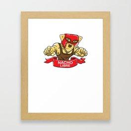 Funny lucha libre nacho shirt - Cinco de mayo Framed Art Print