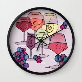 Wine and Grapes v2 Wall Clock