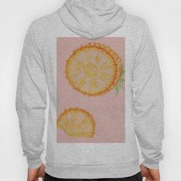 Pineapple on pink Hoody