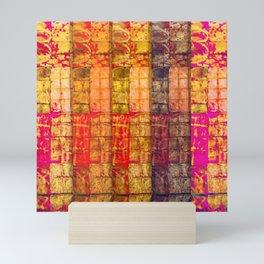 no. 235 pink orange brown red yellow gold pattern Mini Art Print