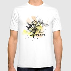 Abstract White Mens Fitted Tee MEDIUM