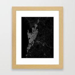 Adelaide map australia Framed Art Print