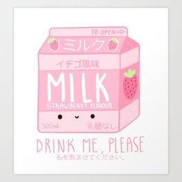 Drink me, please! Art Print