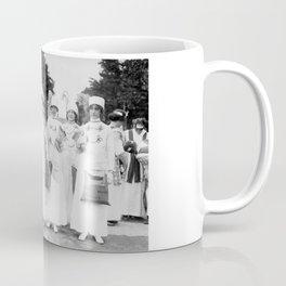 Elisabeth Freeman And The Suffrage News Girls - Circa 1913 Coffee Mug