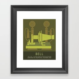 Science Posters - Alexander Graham Bell - Inventor, Engineer Framed Art Print