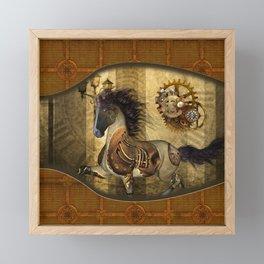 Awesome steampunk horse Framed Mini Art Print
