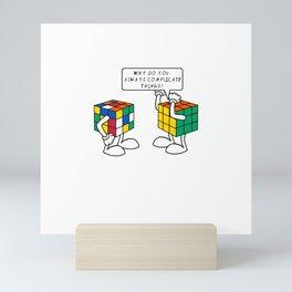 Rubiks Cube Complicate Things Mini Art Print