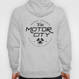 Throwback Detroit Motor City Michigan Pride Car Enthusiast Hoody