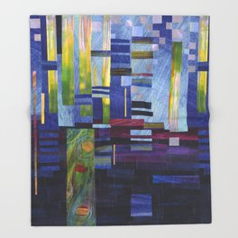 Abstract One Throw Blanket