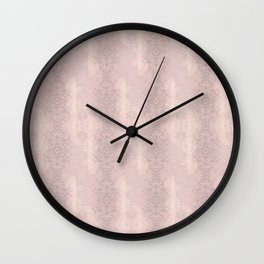 Floral Lace // Pink Semi-Circles Wall Clock