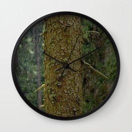 Tree and rain Wall Clock