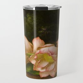 Lotus Flowers by Martin Johnson Heade, 1885 Travel Mug