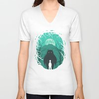 scary V-neck T-shirts featuring Scary Monsters and Nice Sprites by filiskun
