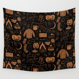 Autumn Nights: Halloween Wall Tapestry