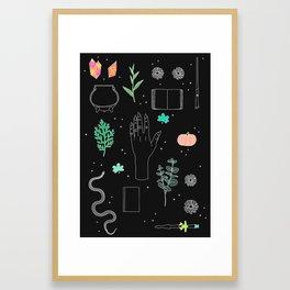Witch Starter Kit: Potion - Illustration Framed Art Print