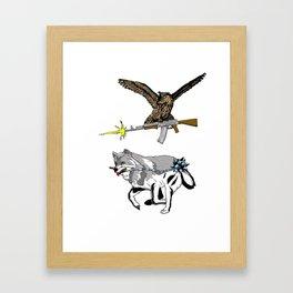 OWL WOLF ALLIANCE 3 Framed Art Print
