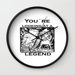 You're Looking At A Legend St Patricks Day Clurichaun Wall Clock