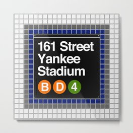 subway yankee stadium sign Metal Print