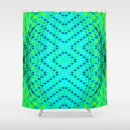 FLUX #3  Optical Illusion Vibrant Colorful Psychedelic Trippy Design Shower Curtain