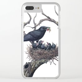 American Crow Clear iPhone Case