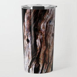 Ancient olive tree wood close-up Travel Mug